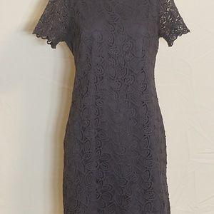 EUC 4P Blue Lace Dress